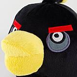 Мягкая игрушка Angry Birds черная. Птица Бомб, фото 2