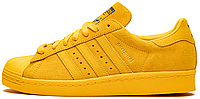 Женские кроссовки Adidas Superstar 80s City Pack Shanghai Yellow Адидас Суперстар Шанхай желтые