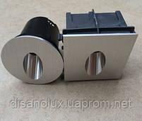 Светильник для подсветки ступеней  QSD- 1 LED 3W  3000K  80 мм x 80мм IP44  SILVER, фото 4
