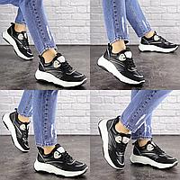 Женские черные кроссовки Slay 1686 Эко-кожа  Размер 40 - 25,5 см по стельке, обувь женская
