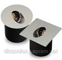 Светильник для подсветки ступеней  QSD- 1 LED 3W  3000K  80 мм x 80мм IP44  SILVER, фото 5