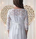 Белое платье для беременных на роспись, фото 5