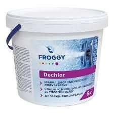 """Средство для нейтрализации хлора и брома в гранулах Froggy """"Dechlor"""" 5 кг"""