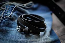 Браслет кожаный мужской mod.OldCraft 4 вит. черный, фото 2