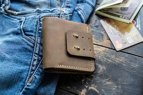 Мужской кожаный кошелек Woodward, фото 2
