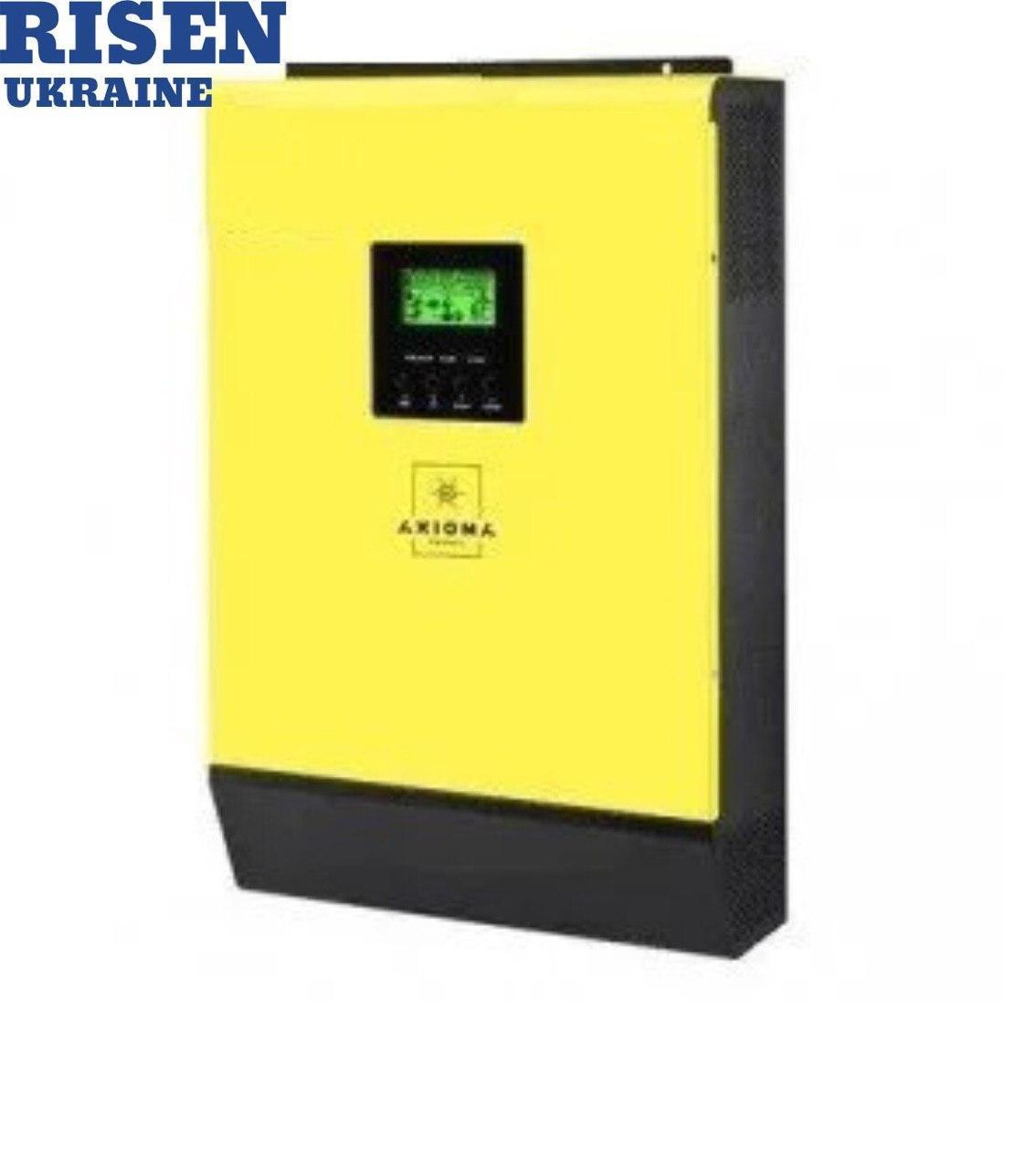 Інвертор гібридний сонячний AXIOMA energy ISGRID 3000 3кВт 1 фаза 1МРРТ
