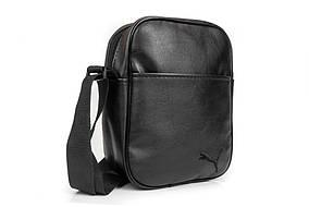 Мужская кожаная PU сумка через плечо мессенджер Puma размер XL