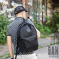 Стильный и прочный мужской кожаный рюкзак на 25 л mod.One черный, городской, чоловічий рюкзак