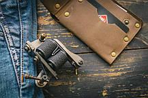Мужской кожаный кошелек ТатуНаКоже, велосипед, фото 3