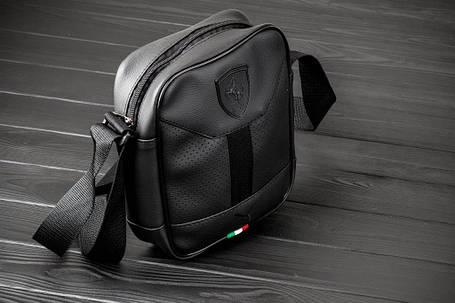 Мужская кожаная сумка через плечо Puma Formula, фото 2