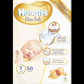 Подгузники Huggies Ultra Comfort Elite Soft 1 ( 50 шт / 2-5 кг)