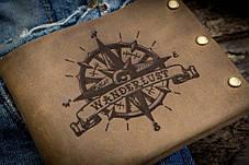 Мужской кожаный кошелек ТатуНаКоже, Wanderlust, фото 2