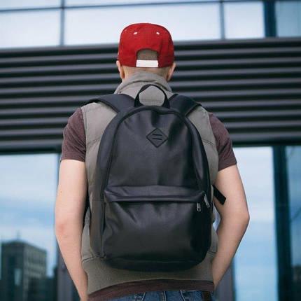 Рюкзак мужской городской спортивный черный, мужской рюкзак городской для ноутбука, рюкзак роллтоп BORDER, фото 2
