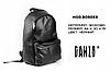 Рюкзак мужской городской спортивный черный, мужской рюкзак городской для ноутбука, рюкзак роллтоп BORDER, фото 3
