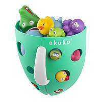 Корзина для игрушек для купания на присосках бирюзовая Akuku A0431