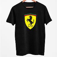 """Футболки мужские с печатью принтом """"Ferrari"""""""
