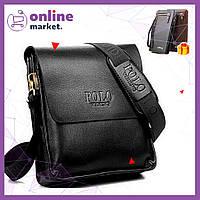 Мужская кожаная сумка Polo Videng / Сумка через плечо + Кошелек Baellerry Italiac в Подарок