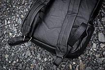 Рюкзак мужской городской кожаный черный, мужской рюкзак спортивный для ноутбука, кожаный рюкзак черный WNDR, фото 2