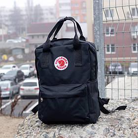 Универсальный городской рюкзак Fjallraven Kanken черный реплика на 14 л, мужской, женский, школьный
