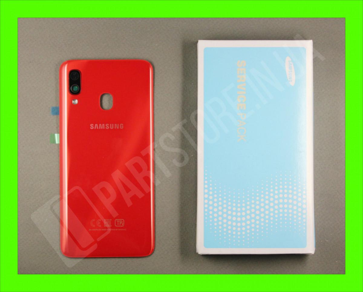 Cервисная оригинальная задняя Крышка Samsung A405 Red A40 2019 (GH82-19735E)