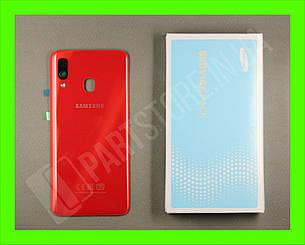 Cервисная оригинальная задняя Крышка Samsung A405 Red A40 2019 (GH82-19735E), фото 2