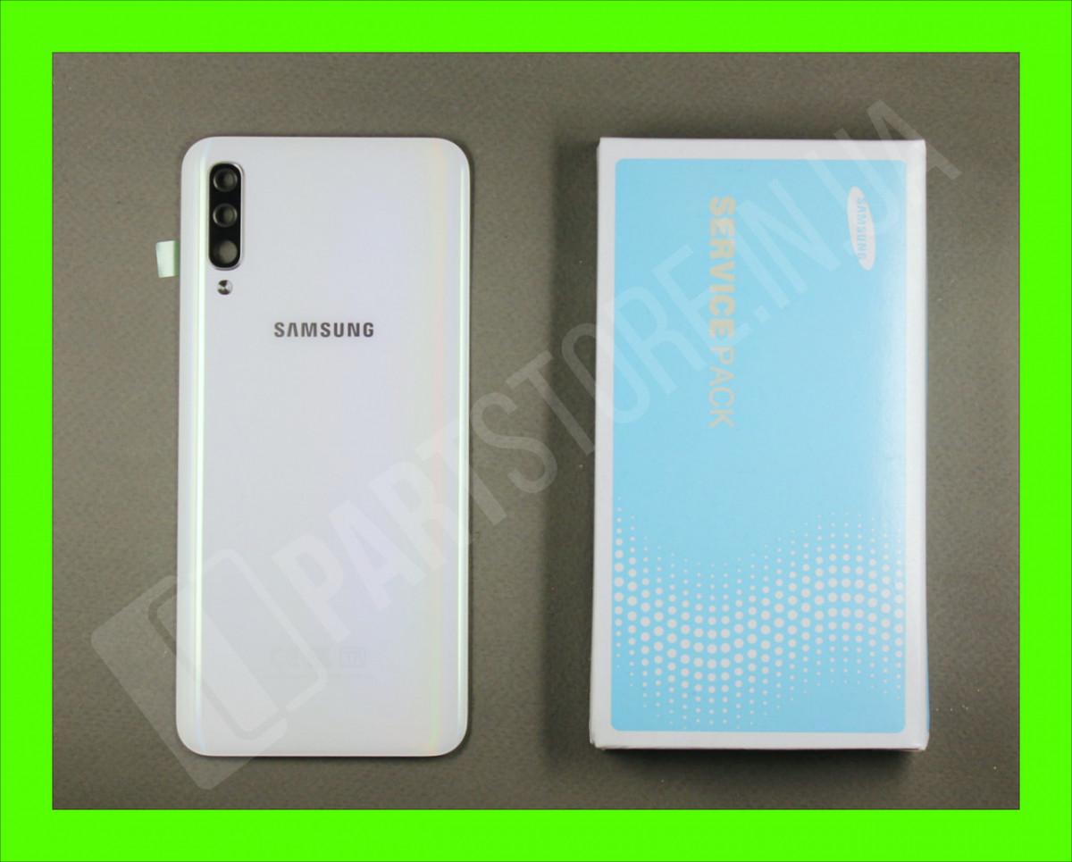 Cервисная оригинальная задняя Крышка Samsung A505 White A50 2019 (GH82-19397B)