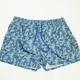 Мужские пляжные шорты для купания (арт. 20153) голубые L