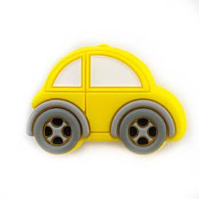Машинка МИНИ.КАР(желтый) силиконовая бусина