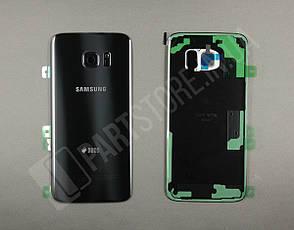 Крышка Samsung G935 Black S7 Edge (GH82-11510A) сервисный оригинал, фото 2