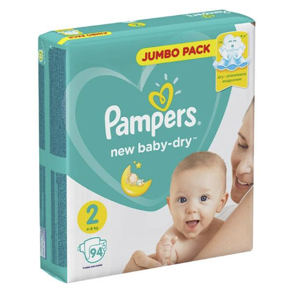 Подгузники Pampers New Baby-dry Mini 2 (94 шт / 4-8 кг)