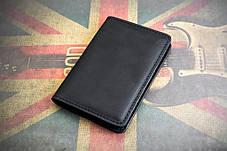 Портмоне кошелёк мужской Космополит черный, фото 3