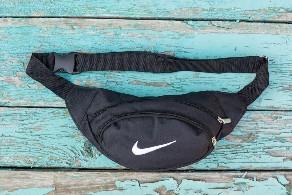 Сумка мужская банан поясная Nike бананка черная