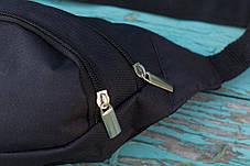 Сумка мужская банан поясная Nike бананка черная, фото 3