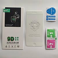 Защитное стекло для IPhone 6+ Plus, 6s Plus 9D Full Glue Белое