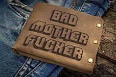 Мужской кожаный кошелек ТатуНаКоже, криминальное чтиво, фото 2