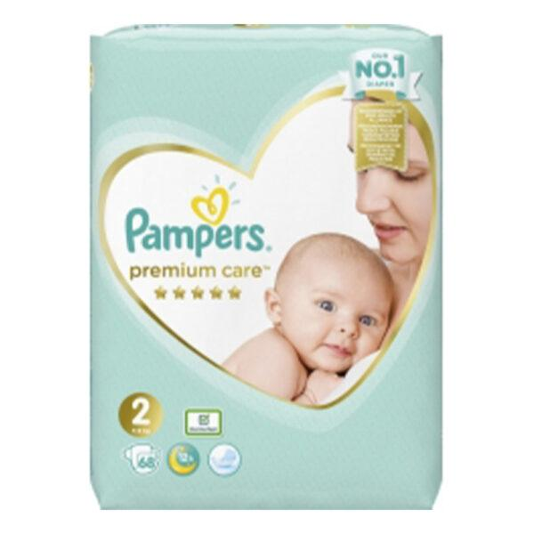 Подгузники Pampers Premium Care- New Baby 2( 68 шт/ 4-8 кг)