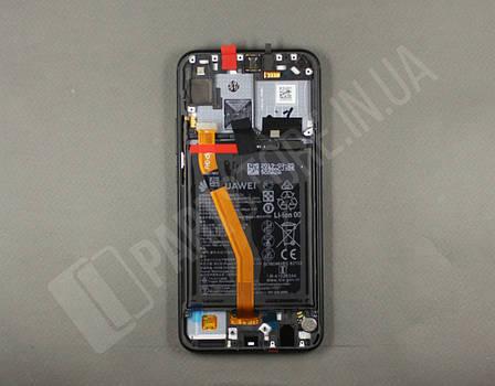 Дисплей Huawei P Smart plus Black (02352BUE) сервисный оригинал в сборе с рамкой, акб и датчиками, фото 2