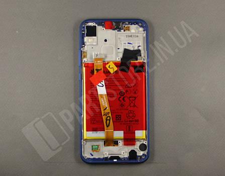 Дисплей Huawei P20 Lite Blue (02351XUA) сервисный оригинал в сборе с рамкой, акб и датчиками, фото 2