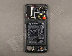Дисплей Huawei P20 Pro Black (02351WQK) сервисный оригинал в сборе с рамкой, акб и датчиками, фото 2