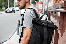 Рюкзак мужской городской спортивный черный, мужской рюкзак городской для ноутбука, рюкзак роллтоп HardBro, фото 3