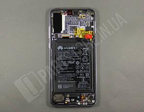 Дисплей Huawei P20 Pro Purple (02351WTU) сервисный оригинал в сборе с рамкой, акб и датчиками, фото 2