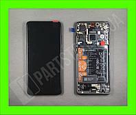 Дисплей Huawei P30 Black (02352NLL) сервисный оригинал в сборе с рамкой, акб и датчиками