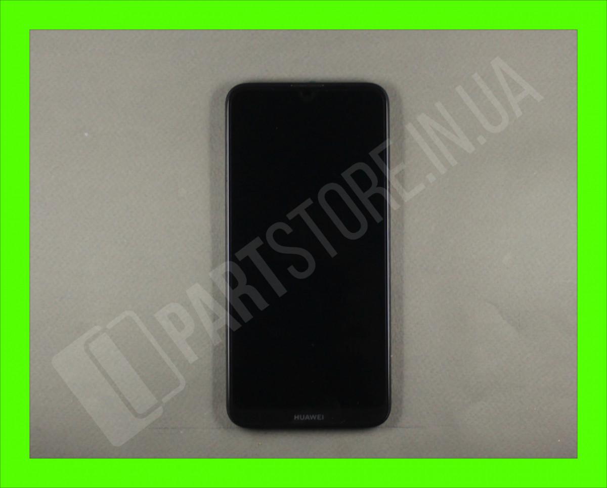 Дисплей Huawei Y7 2019 Black (02352KCV) сервисный оригинал в сборе с рамкой, акб и датчиками