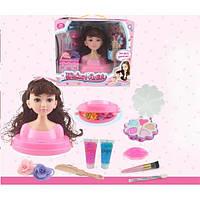 Голова-манекен куклы для причесок и макияжа с аксессуарами оптом