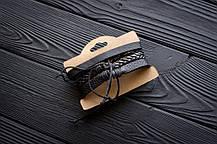 Браслет кожаный мужской mod.HiJack чёрный, фото 3