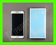 Дисплей Samsung G925 white S6 Edge (GH97-17162B) сервисный оригинал в сборе с рамкой