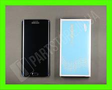 Дисплей Samsung G928 blue S6 Edge Plus (GH97-17819B) сервисный оригинал в сборе с рамкой