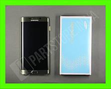 Дисплей Samsung G928 gold S6 Edge Plus (GH97-17819A) сервисный оригинал в сборе с рамкой