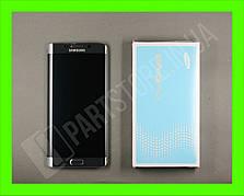 Дисплей Samsung G928 silver S6 Edge Plus (GH97-17819D) сервисный оригинал в сборе с рамкой