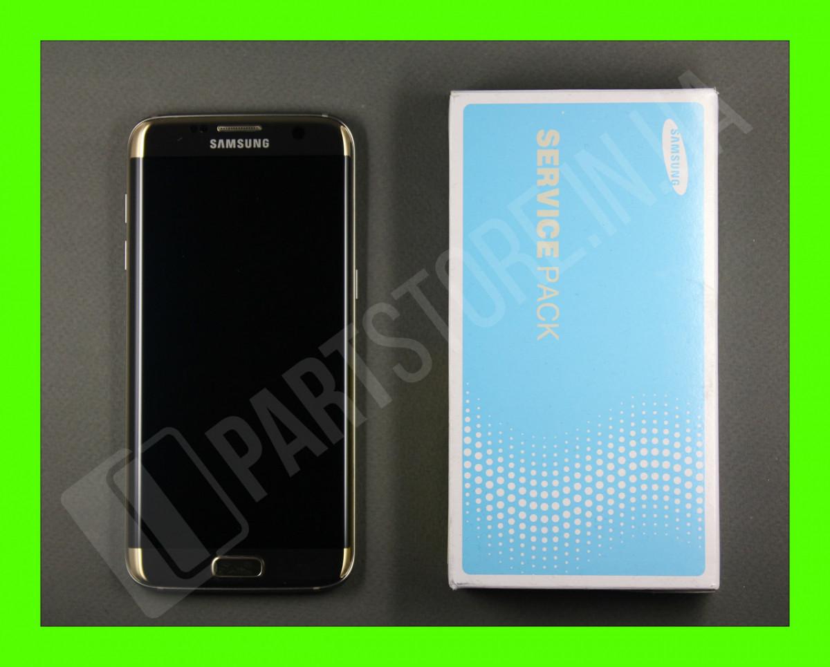 Дисплей Samsung G935 Gold S7 Edge (GH97-18533C) сервисный оригинал в сборе с рамкой